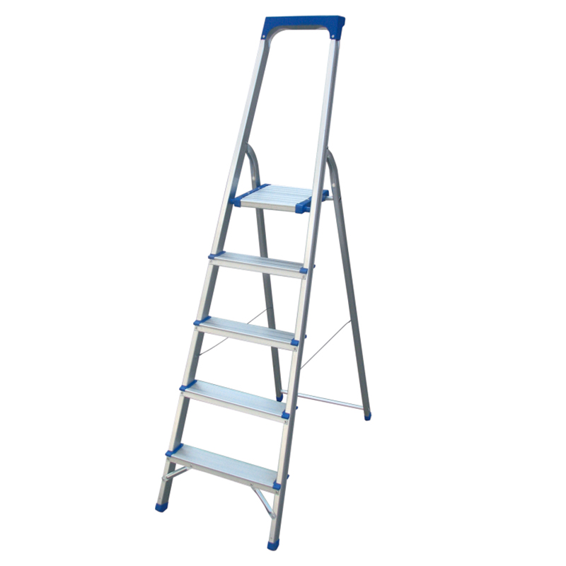 LJ203DT-LJ208DT Tool tray 3-8 Steps Ladder Folding Aluminium Ladders with Safety Non-Slip Step