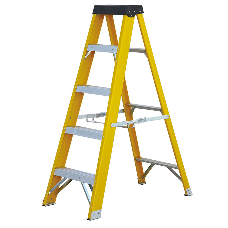 280mm Step Rise  Fibreglass  Step Ladder 3-10 Tread EN 131