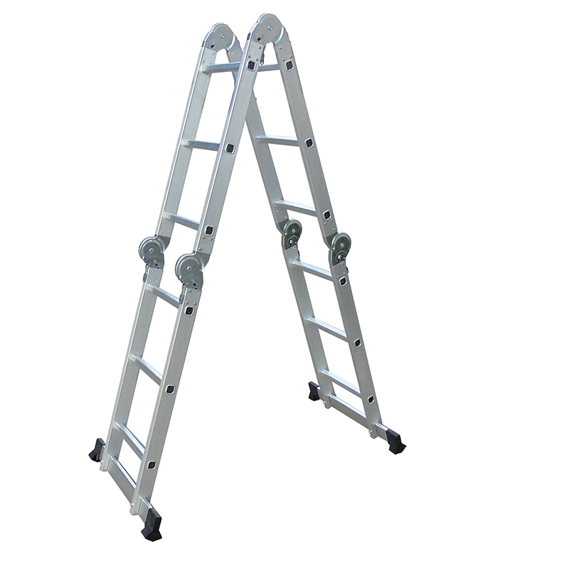LC3412H  3700mm Multi-Purpose  4x3 Aluminium Folding  Ladder