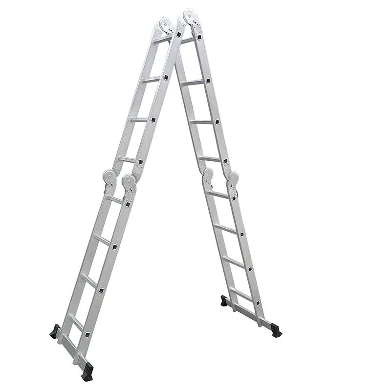 LC3416B  4460mm Multi-Purpose  4x4 Aluminium Folding  Ladder
