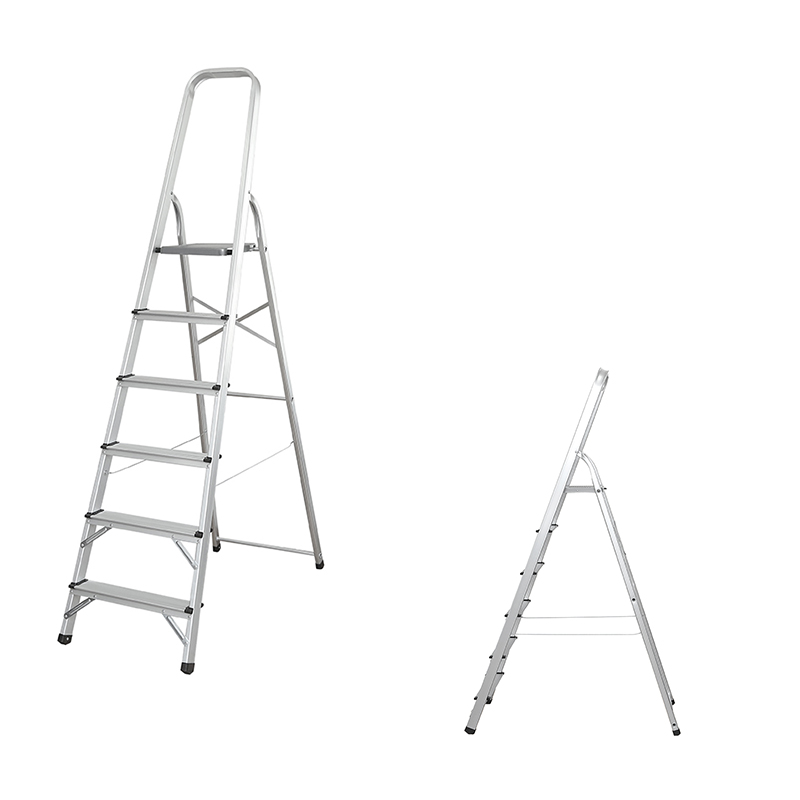 LJ203D-208D  3-8 Steps Ladder Folding Aluminium Ladders with Safety Non-Slip Step